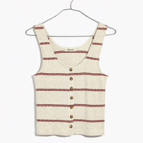 d3676514e2b8df Madewell Ribbed Button-Front Tank